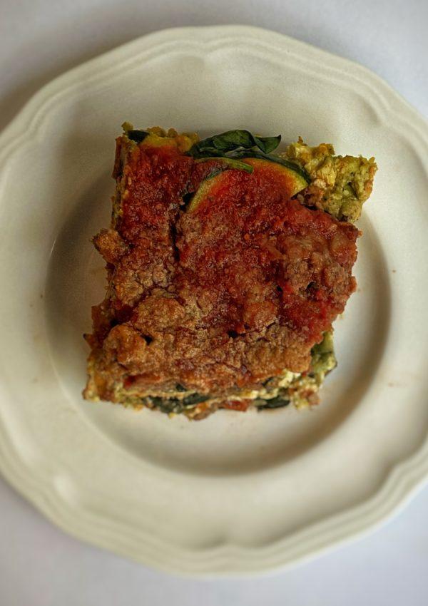 New Recipe: Basil Beef Lasagna
