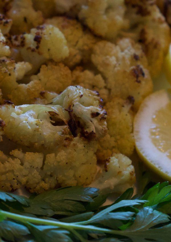 NEW RECIPE: Lemon Turmeric Tahini Roasted Cauliflower