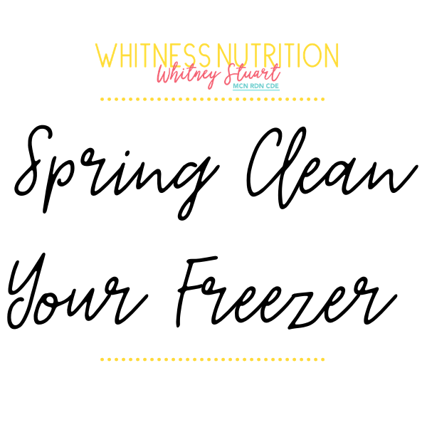 Spring Clean Your Freezer